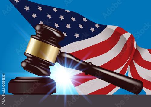 justice - maillet - marteau - juge - américaine - États Unis - américain - USA - maillet de justice - Amérique