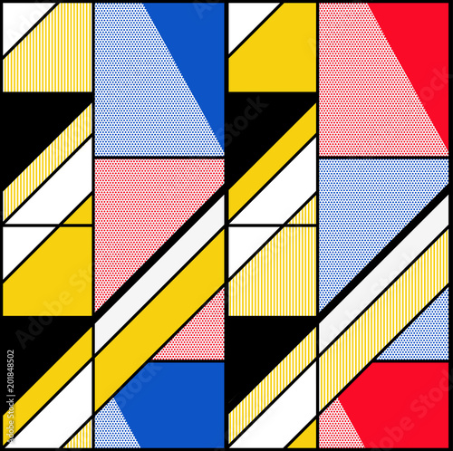 colored-abstract-seamless-geometric-pattern-modular-painting-with-four-panels-background-in-the-abstractionism-style-vector-illustration