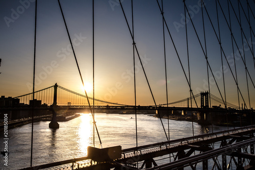 Canvas Brooklyn Bridge Brooklyn Sunrise