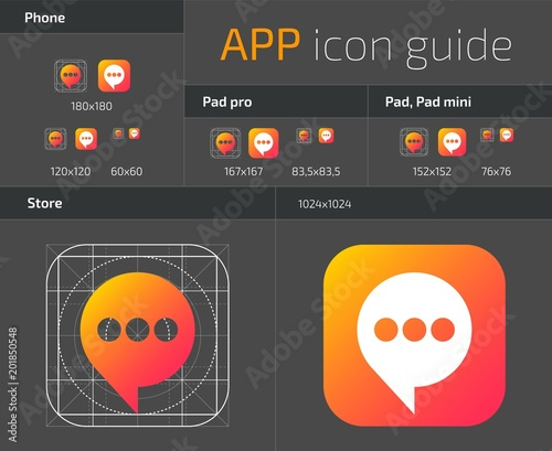 UI IOS button icons design guidelines for web and mobile app vector