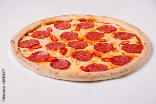 Canvas Pizzeria Pizza pepperoni isolated on white