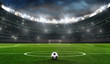 Leinwanddruck Bild - fußballfeld mit fussballtor