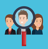 group of people human resources vector illustration design - 201869784