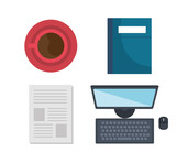 human resources set icons vector illustration design - 201871774