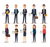 group of people human resources vector illustration design - 201873571
