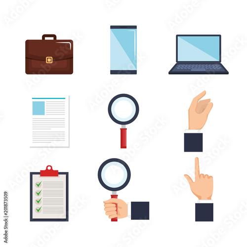 human resources set icons vector illustration design