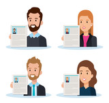 group of people human resources vector illustration design - 201873719