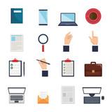 human resources set icons vector illustration design - 201873729