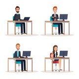 group of people human resources vector illustration design - 201873760