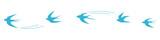 Set of flying blue birds vector illustrations - 201886569