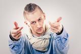 male contemporary hip hop dancer in denim - 201890190