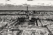 paris cityscape view panorama old style sepia