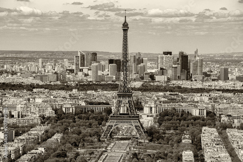 Fridge magnet paris cityscape view panorama old style sepia