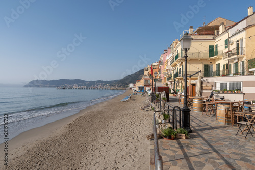 Fotobehang Liguria Italian Riviera. Seafront at the resort of Alassio