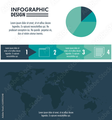 Infographic technology design on blue and white colors vector illustration graphic design