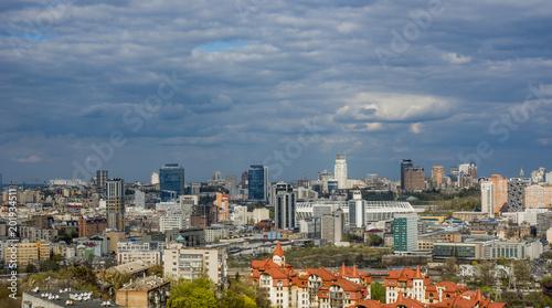 Foto Murales panorama of Kiev in the spring