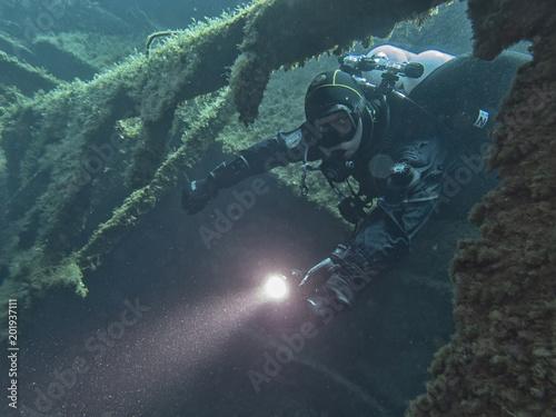 Canvas Schipbreuk Wreck exploration