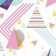 color abstract graphic figures style background
