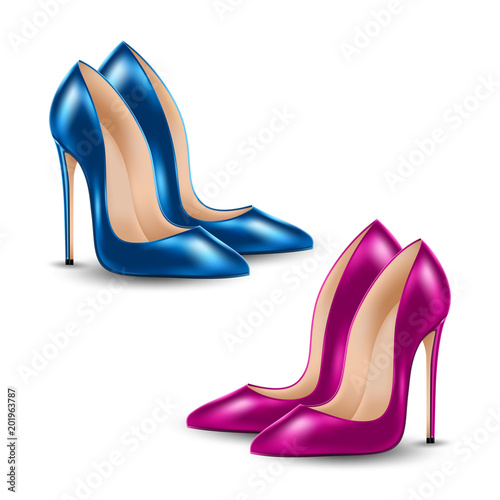 womens high heel shoes isolated on white background sale banner