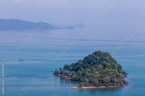 Aluminium Tropical strand Pak Nam Chumphon. View from Khao (Hill) Matsee Viewpoint in Chumphon province, Thailand