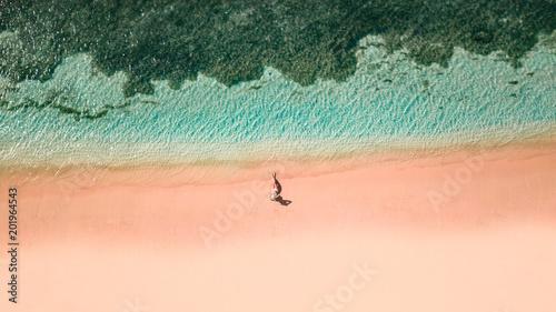 Aluminium Tropical strand Pink Beach