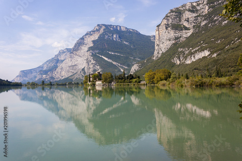 Aluminium Khaki Lago di Toblino is a lake in Trentino, Italy.