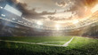 Leinwanddruck Bild - Sport Backgrounds. Soccer stadium.