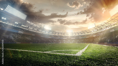 Sport Backgrounds. Soccer stadium. - 202004130