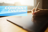 Company culture text on virtual screen. Business, technology and internet concept. - 202018174