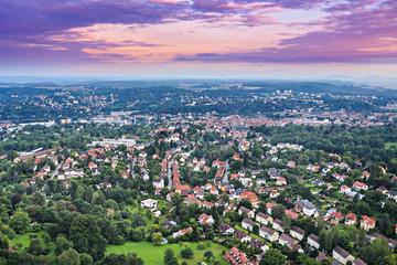 air view of Coburg town