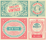 Set of 4 old cards - 202045739