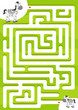 Help zebra find the son. Maze game for kids