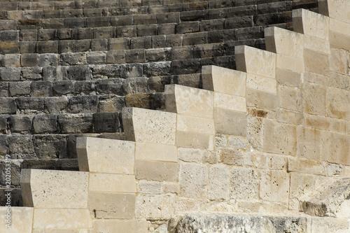 Plexiglas Cyprus Ancient Curium amphitheatre in Kourion, Cyprus