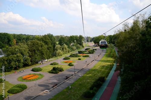 Public Silesian Park in Chorzow near Katowice, Poland