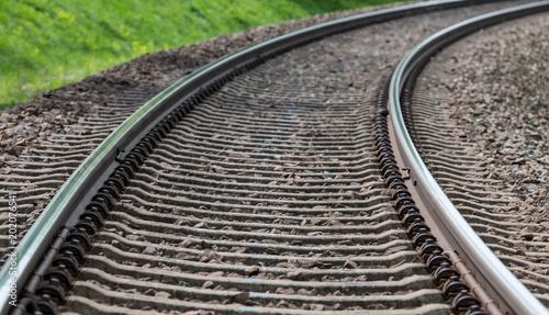 Plexiglas Spoorlijn Bahngleis