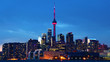 Downtown Toronto, Canada skyline at sunset