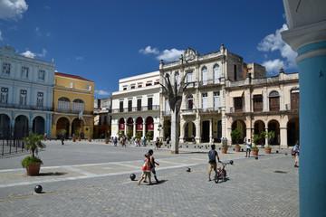 Plaza in Havana, Cuba