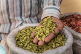 cardamom in the man's hand - 202101703