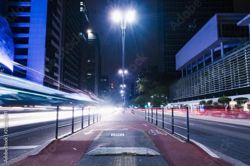 Plexiglas Nacht snelweg cicloway trails