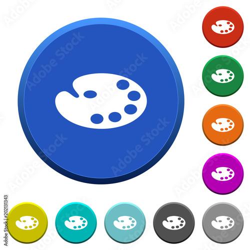 Color palette beveled buttons