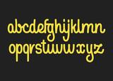 Calligraphic vector script font. Handwritten brush style modern calligraphy cursive typeface. - 202132143