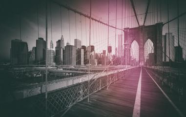Photo Vintage du Pont de Brooklyn - New York