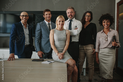 Foto Murales Diverse business professionals together in meeting room
