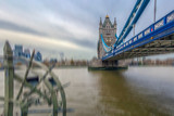 Fish Eye view with London architecture from Tower Bridge - 202161185