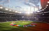 Stadion mit Länderflaggen 3