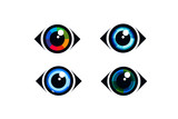 Eye icon - eye symbol. flat eye sign vector
