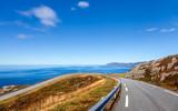 Küstenstraße am Atlantik mit Blick auf das Westkap