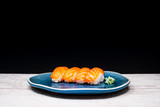 fresh sushi traditional japanese food on the table - 202184764