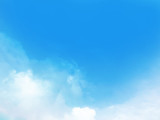 Beautiful blue sky and cloud background