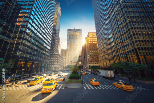 New York City Street Park Avenue View To Grand Central And